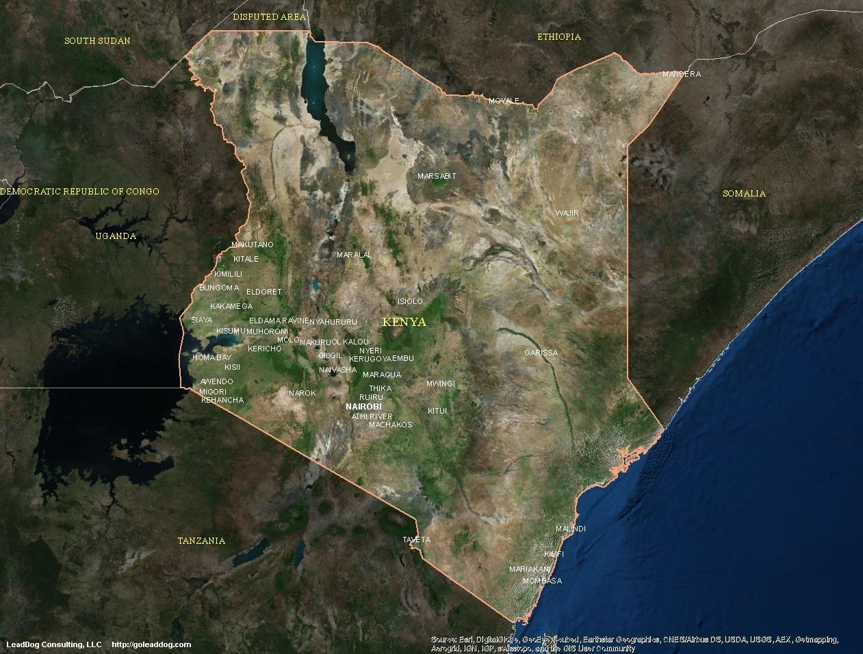 Muholdas Terkep A Kenya Terkep Muholdas Terkep Kenya Kelet